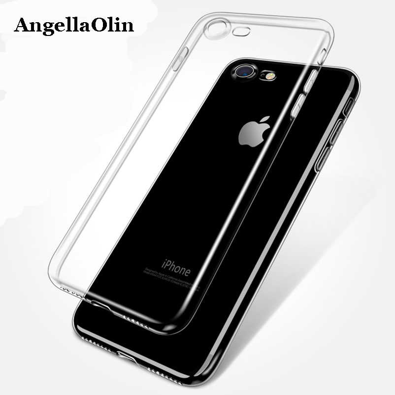 Ultra dunne TPU Squishy Case Voor iPhone Xs Max XR 8X4 4S 5 SE 5 S 6 6 plus 7 telefoon soft Cover Terug Skin Silicone protector