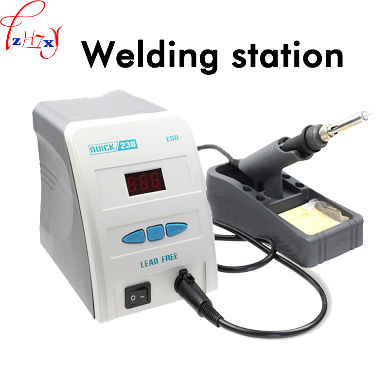 1pc 220V Lead-free digital display welding table <font><b>QUICK236</b></font> electric welding machine rapid warming digital welding machine image