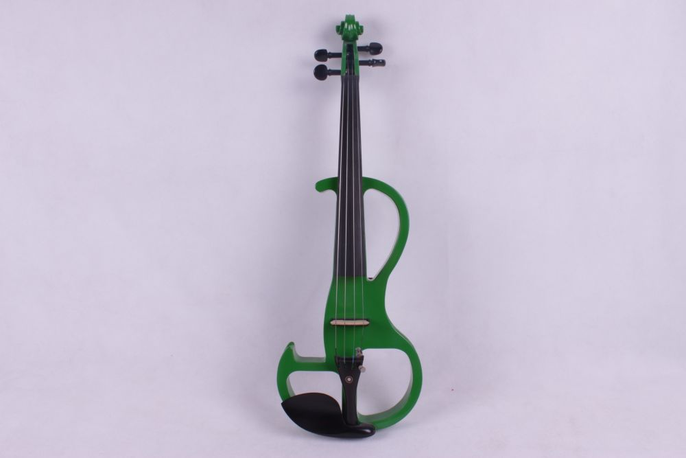 green 4/4 4 String Electric Violin Solid wood hand style 2-1# 4 4 violin neck maple wood hand carve sheep head master yinfente 10 string
