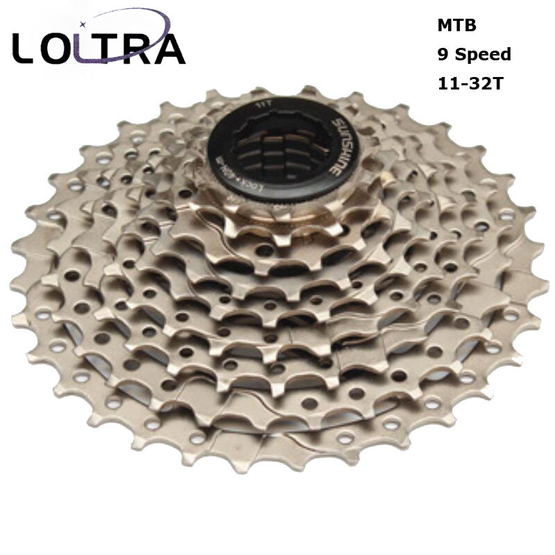 Sunshine 9 Speed 11T-32T Cycling Freewheels Bike Cassette MTB Bicycle Flywheel