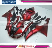 YZF R6 2008 2009 2010 2011 2012 2013 2014 Complete Fairing Kits For Yamaha YZFR6 ABS Fairings Set Candy Red