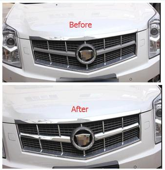 Lapetus Front Head Grille Grill lid Decoration Cover Trim Accessories Exterior Fit For Cadillac SRX 2010 2011 2012 2013 2014 ABS dwcx car front left exterior pillar corner trim window triangle cover abs 75495 tr0 a01 fit for honda civic 2012 2013 2014 2015