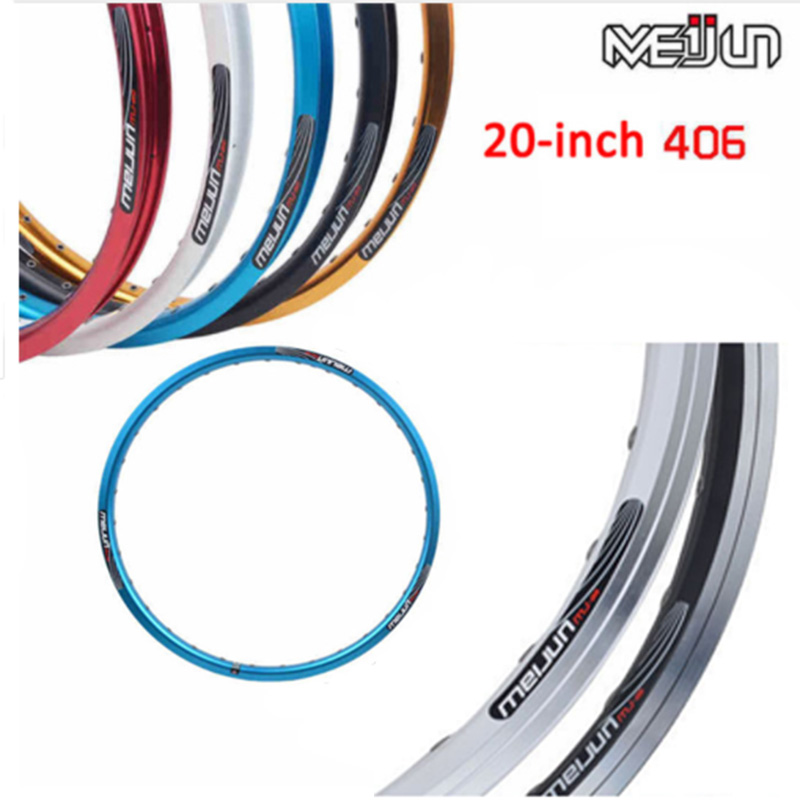 2PCS  small wheel folding bicycle ring 20 inch 406 double layer aluminum alloy disc brake 32 hole rim wheel V brake ring-in Bicycle Wheel from Sports & Entertainment    1