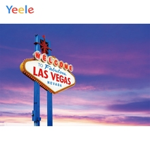 Yeele Welcome to Las Vegas Nevada Personalized City Poster Photography Backgrounds Party Photographic Backdrops For Photo Studio