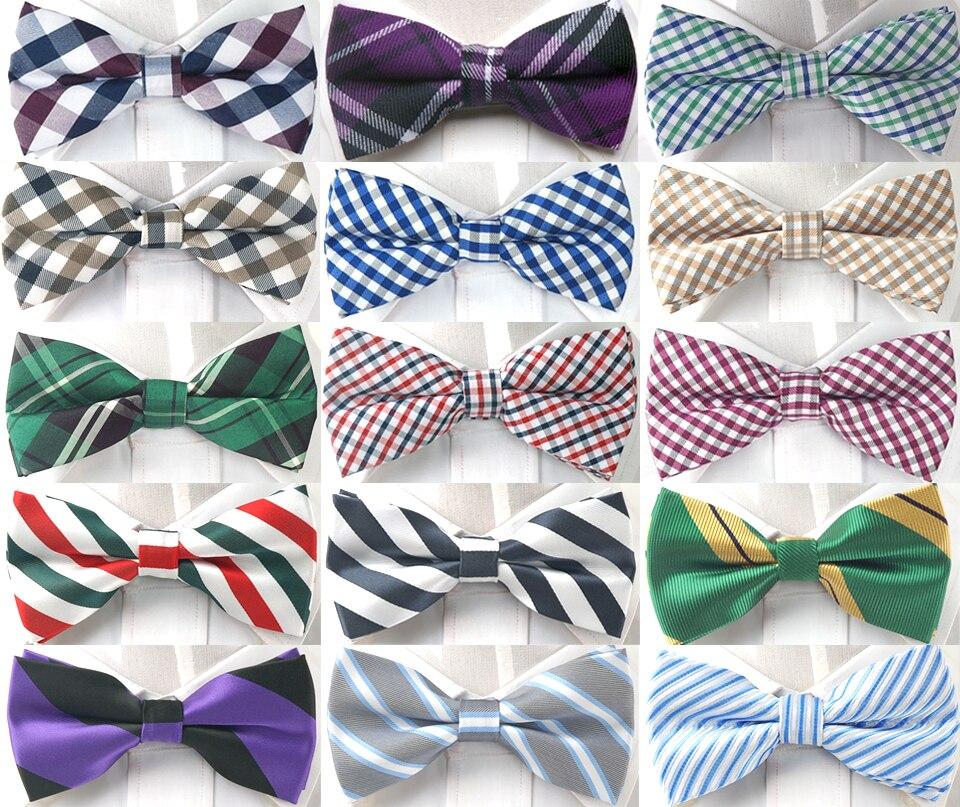Grid Checker Plaid Bow Tie Pre-tied Tuxedo Necktie Woven Groom Wedding Mariage Party BowTie Neckwear Sell Off