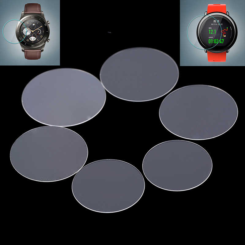 Universal Round Tempered Glass Protective Film Screen Protector Cover For Samsung Gear Huawei Garmin LG MOTO Xiaomi Smart Watch