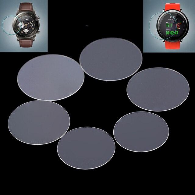 عالمي زجاج مقسي مستدير طبقة رقيقة واقية واقي للشاشة غطاء لجهاز سامسونج جير هواوي غارمين LG MOTO شاومي ساعة ذكية