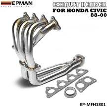 Выхлопной коллектор из нержавеющей стали для 88-00 CIVIC EG EF EK EM EP-MFH1801