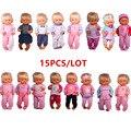 Großhandel Puppe Kleidung Fit 41cm Nenuco Accesorios Nenuco y su Hermanita 15 teile/los Verschiedene Stile Outfits Beste DIY Mädchen spielzeug-in Puppen-Zubehör aus Spielzeug und Hobbys bei