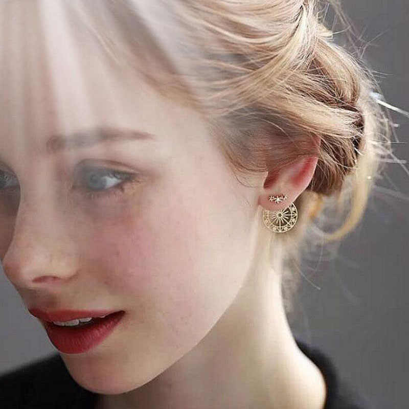 Star Earrings Fine Jewelry Accessories Funny Ferris Wheel Earrings Body Jewellery Women Gold Earring Pendientes Vintage Earring