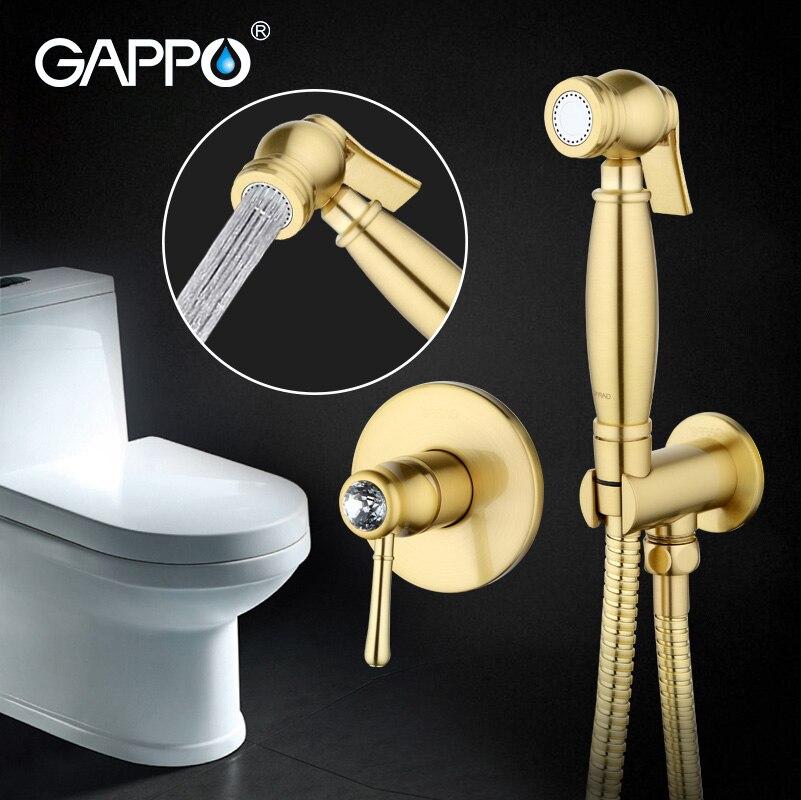 Gappo Golden Crystal Bathroom bidet faucet muslim bidet shower toilet sprayer restroom mixer tap and Basin Faucet gappo golden crystal bathroom bidet faucet muslim bidet shower toilet sprayer restroom mixer tap toilet washer tap mixer g7297 4
