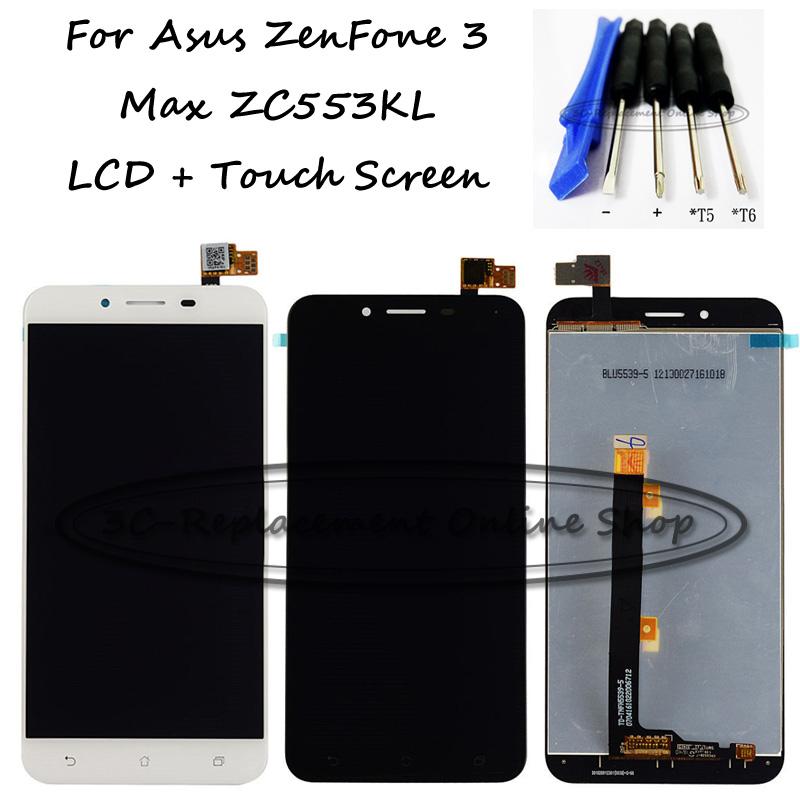 Prix pour Noir/Blanc 5.5 pouce Pour Asus ZenFone 3 Max ZC553KL LCD Display + Écran Tactile Digitizer Assemblée Remplacement Outils Gratuits