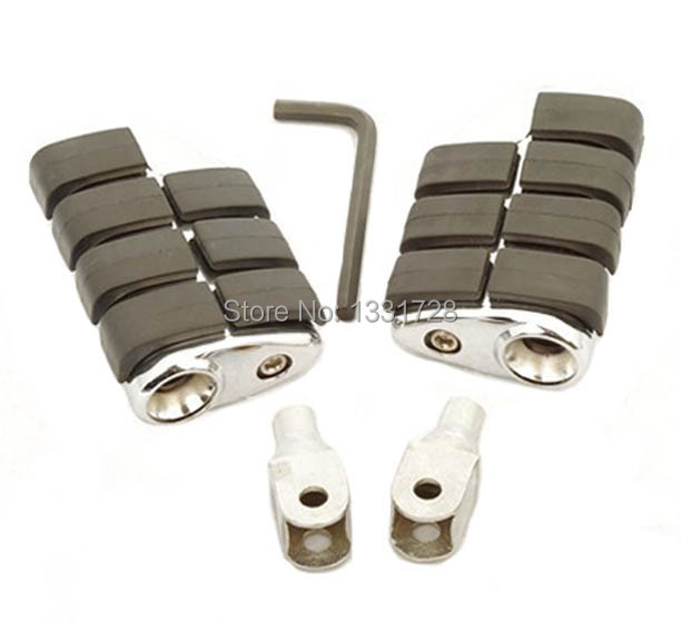 Chrome Wing Foot Pegs Rests For 1996-2004 Honda Magna 750 (Front)
