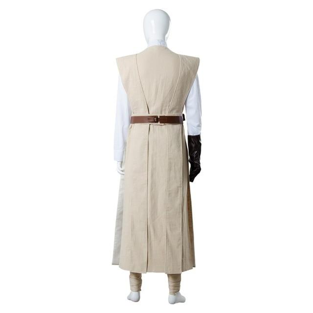 2018 Star Wars 8 The Last Jedi Luke Skywalker Cosplay Costume Robe Halloween Carnival Costume For Adult Men 5