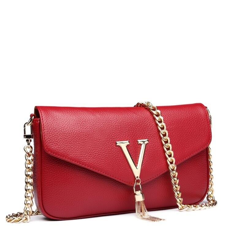 100% Frauen Echtes Leder Taschen 2018 Neue Designer Frauen Tasche Berühmte Marke Kette Frauen Umhängetasche Tasche Weibliche Rindsleder Bolsa Feminina Fabriken Und Minen