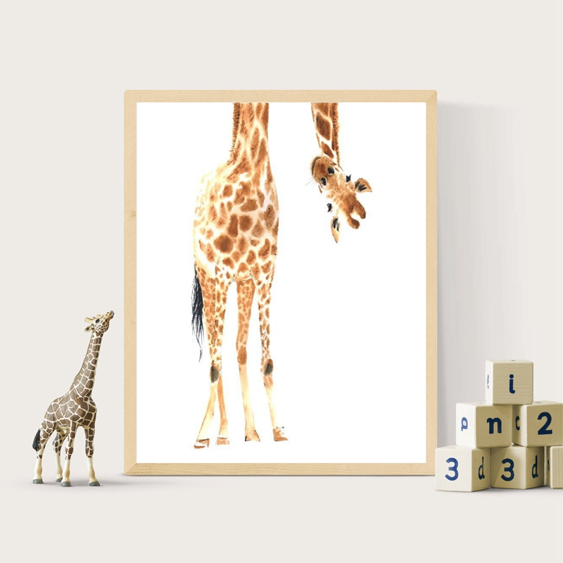 Giraffe Canvas Picture Baby Room Decor