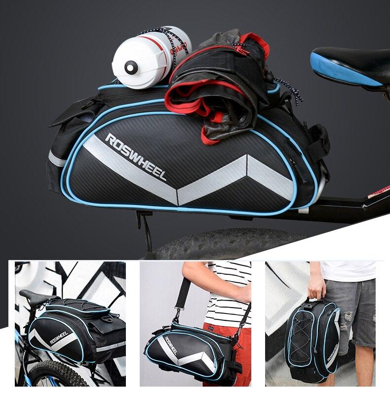 Цена за Новый roswheel велосипедов сумка многофункциональный 13l велосипед хвост заднего мешок седло велоспорт bicicleta корзина стойку магистральные сумки на ремне сумки
