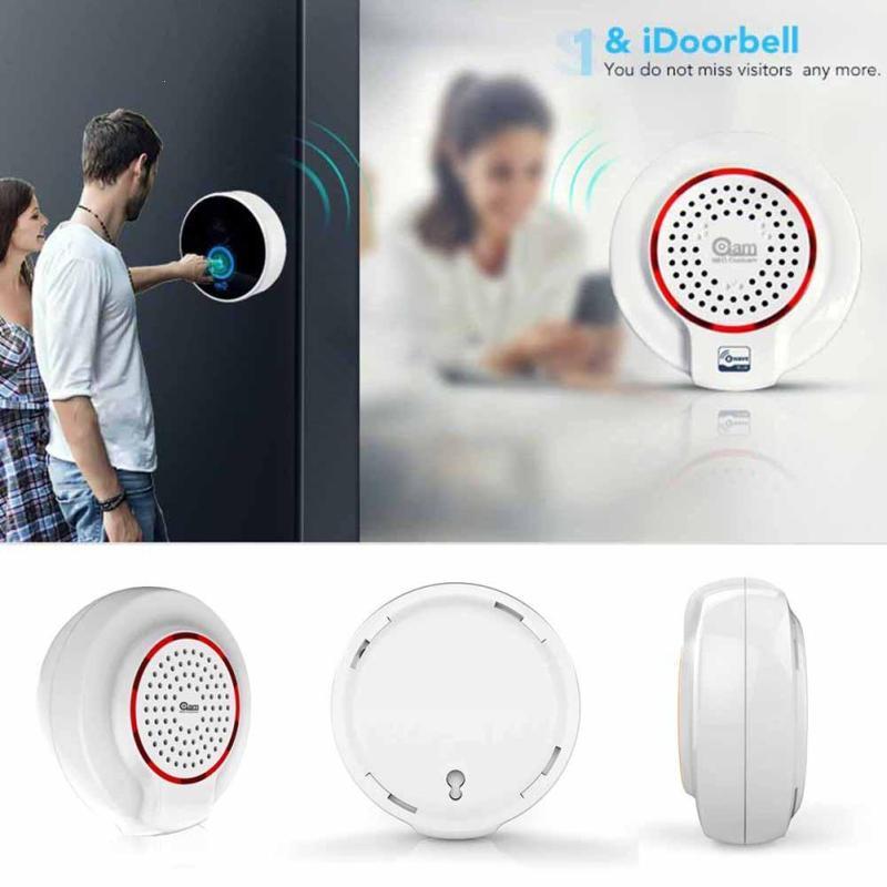 Z-wave Wireless Siren Alarm Sensor Compatible With Z wave Plus Sensor Alarm Audio Doorbell Home Automation Smart House Switch fpv 1 2ghz 100mw 4ch wireless audio