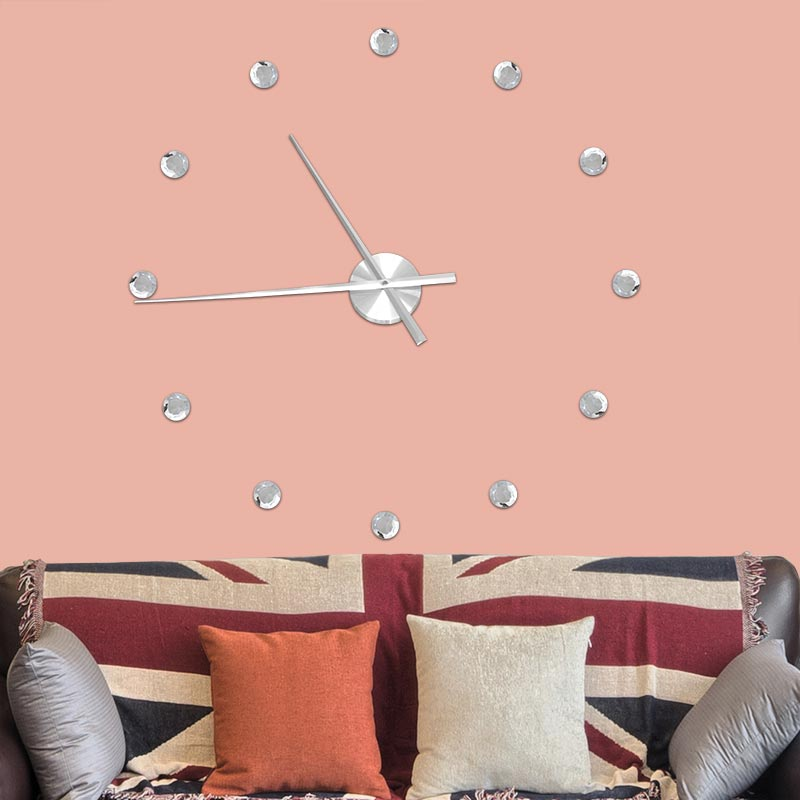 2017 Creative DIY Crystal Wall Clock Stickers 3D Stereo Simulation ...