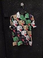 WRD06273BA модные Для мужчин рубашки 2018 люксовых брендов Европейского дизайна Повседневное Для мужчин Костюмы