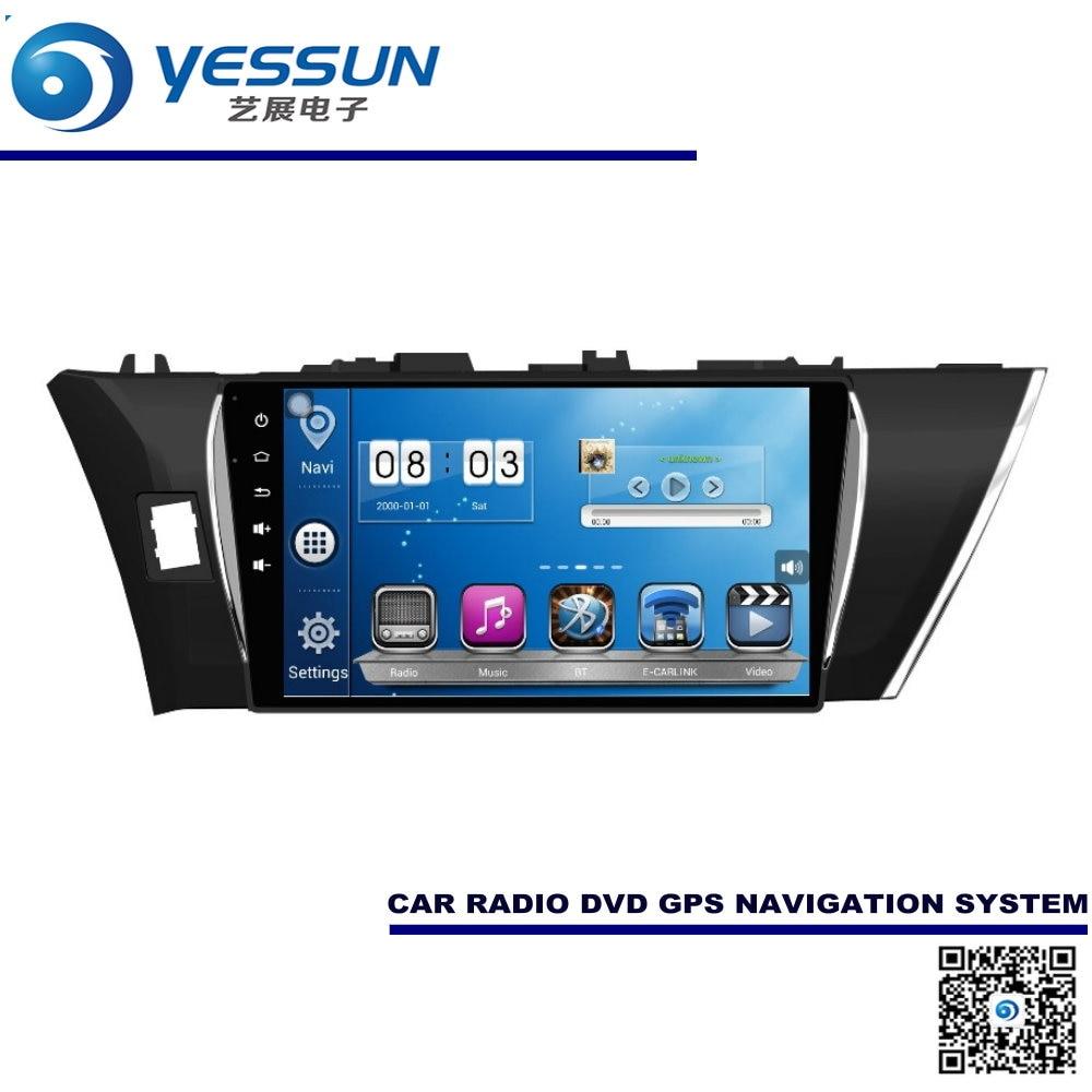 Para Toyota Corolla 2013 ~ 2015 Coche Android Sistema de Navegación GPS Radio Au