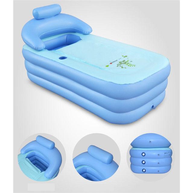 Online Shop Adult Kids Inflatable Pool PVC Folding Portable ...