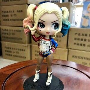 Image 2 - Disney Q Posket Figures Toy Harley Quinn Suicide Squad Wonder Woman Avengers Endgame Model Dolls Gift for Children