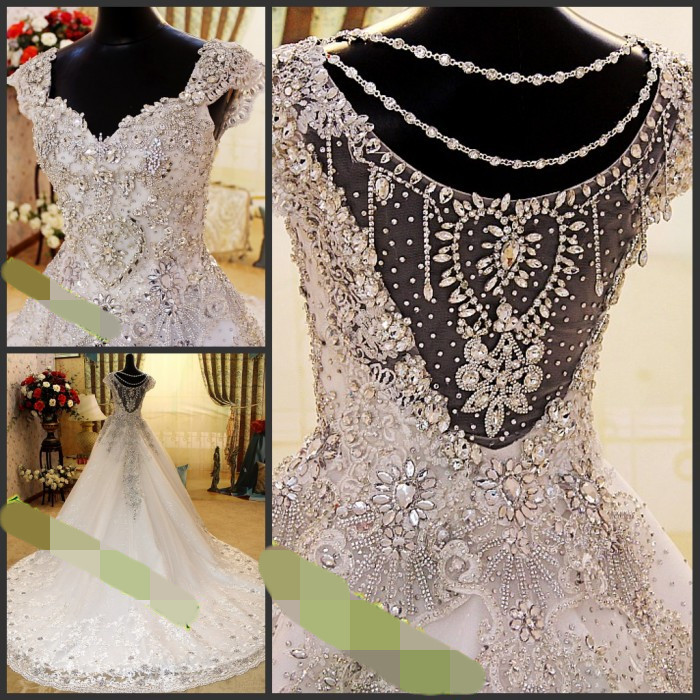 2017 Wedding Dress Swarovski Crystal Beads Decoration Formal Evening Mermaid Dresses Gold Black In From Weddings