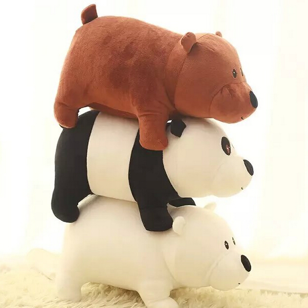 1pc 25cm We Bare Bears Cartoon Bear Stuffed Plush Toy Doll Grizzly