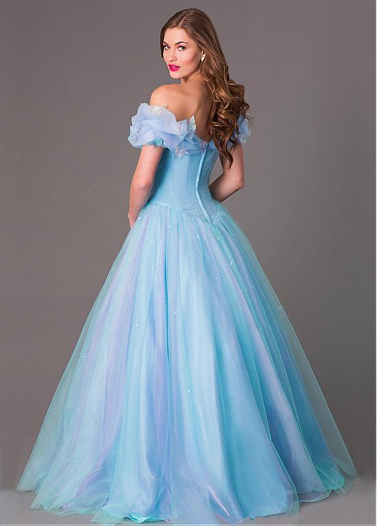 2259f8af9cd 2016 Fantastic Blue Cinderella Ball Gown Quinceanera Dresses Off The  Shoulder Sequins Tulle Princess Formal Party Prom Gowns-in Quinceanera  Dresses from ...