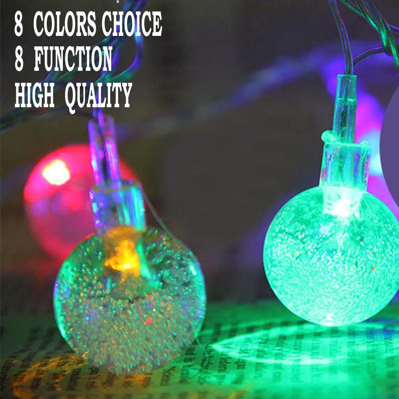 10M 100 Crystal Balls Utomhus Vattentäta Fairy String Lights Heminredning Fiestas Lampa, Garland belysning Wedding Luminarias