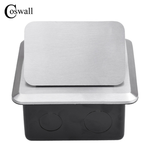Image 2 - Coswall All Aluminum Silver Panel Pop Up Floor Socket 16A French Standard Power Outlet With USB Charging Port 5V 1A