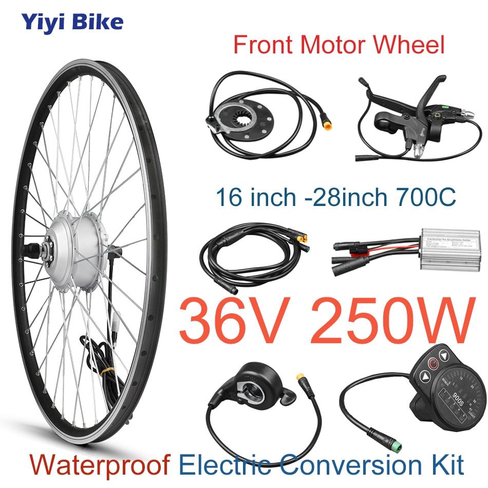 KT LCD3 affichage 36 V 250 W BLDC moyeu moteur roue sans brosse contrôleur électrique vélo Kit de Conversion avec accélérateur de pouce 26 pouces