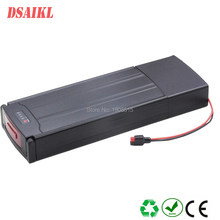 24 volts electric bike battery 24V 14ah rear rack li-ion battery with BMS and charger(China)