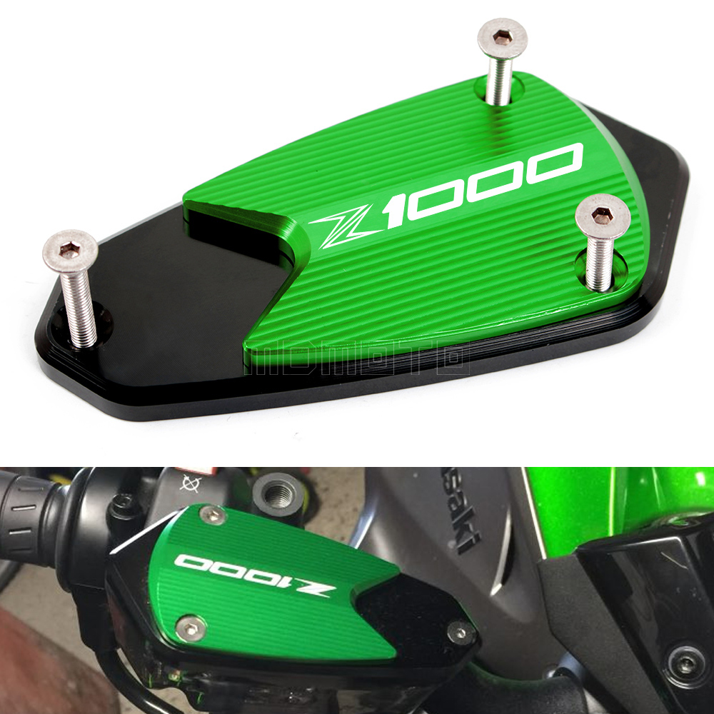 Z750R CNC Front Clutch&Brake Fluid Reservoir Cover Cap Fit For kawasaki z750r 11-2014 z1000 10-2015 motorcycle accessories parts motorcycle cnc front brake reservoir fluid cap cover for kawasaki z250 z750r 11 15 z1000 10 15 gtr1400 07 15