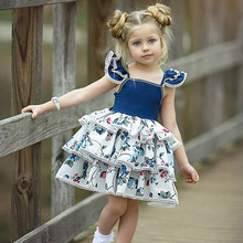 Christmas Girls Dress 2019 Summer Kids Dresses For Baby Girls Clothes Princess Dresses Birthday Party Dress For Girls Vestidos цена
