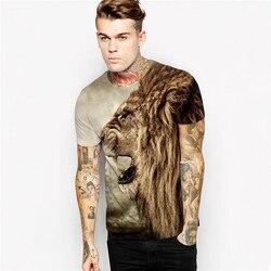 New fashion lion head hip hop t shirt print galaxy t shirt women men tees summer.jpg 250x250