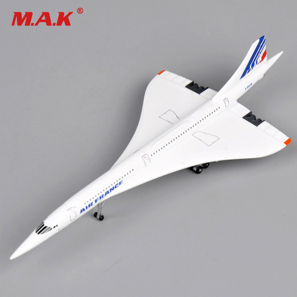 Kids Airplane Toys Concorde 1:400 Scale Air France 1976-2003 Diecast Metal Vehicles White Mini Aircraft for Children Gift image