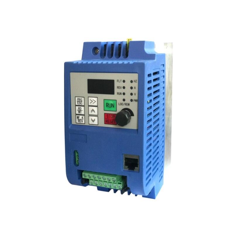 AC 220 В преобразователь частоты 1.5KW/2.2KW частотно-регулируемый привод Частотный преобразователь Скорость контроллер преобразователя