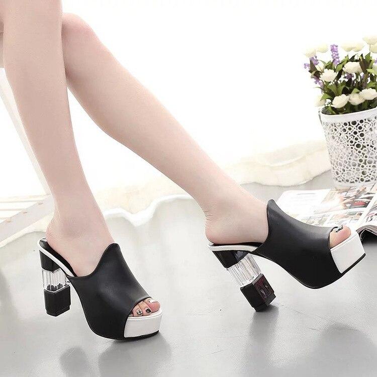 Fashion Female Slippers Suede Sandals Summer Shoes Women Mules Ladies Flip Flops High Heeled Slides Shoes alpargata 887