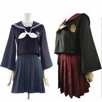 New harri potter Gryffindor costume school uniform sailor shirt mini skirt set for girl women fancy outfit