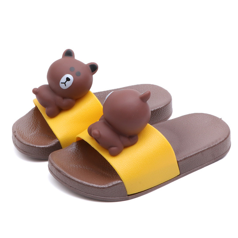 Cartoon Boys Girls Summer Casual Sandals Soft Sole Fashion Kids Slippers Barefoot Water Shoes For Children Bath Beach Shoes