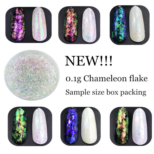 Nuevo! 1 caja Chameleon escamas efecto mágico escamas cromo nail ...