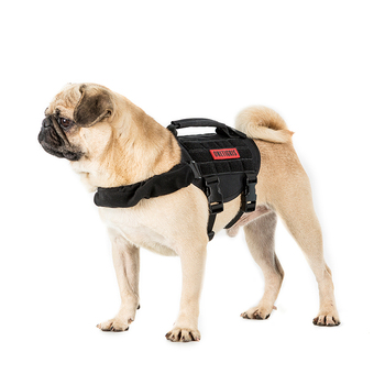 OneTigris MOLLE Small Sized Dog Vest for Walking Hiking Hunting Tactical Military MOLLE Training Harness for Service Dog