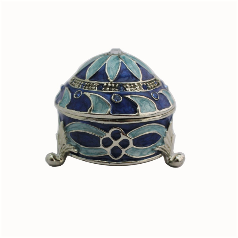купить YAFFIL Jewelry Box Flower Enamel Zinc Alloy Jewelry Box Trinket Crystal Craft Carrying Case Box Rhinestone Christmas Gift по цене 1253.87 рублей