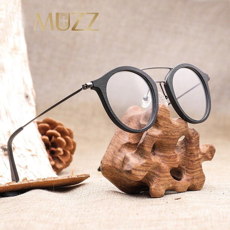 Image 2 - High Quality Men Myopia Wood Eyewear myopia glasses frame retro frame female frame male with myopia glasses-in Men's Eyewear Frames from Apparel Accessories
