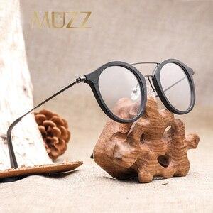 Image 2 - High Quality Men Myopia Wood Eyewear myopia glasses frame retro frame female frame male with myopia glasses