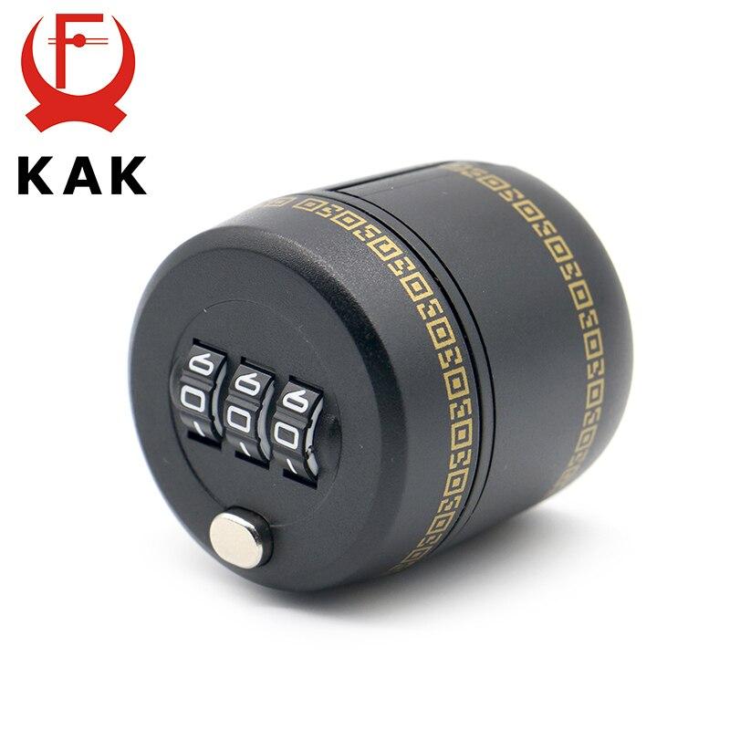 KAK Plastic Bottle Password Lock Combination Lock Wine Stopper Vacuum Plug Device Preservation For Furniture Hardware push type vacuum sealed bottle wine stopper black