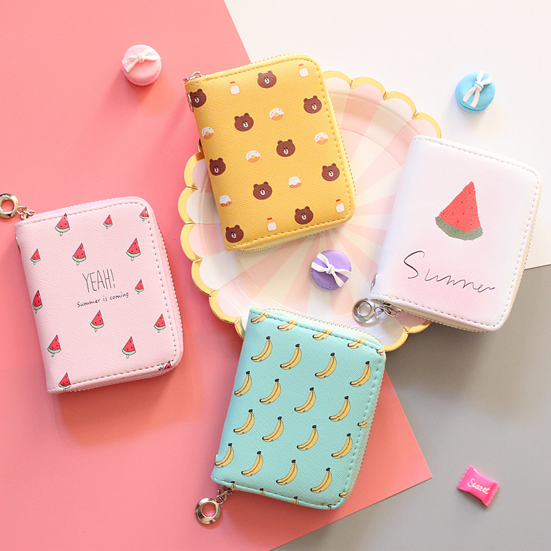 Fashion Various Fruit Wallet Purse for Women Female Clutch Purse Card Holder Coin Purse Wallet for Ladies