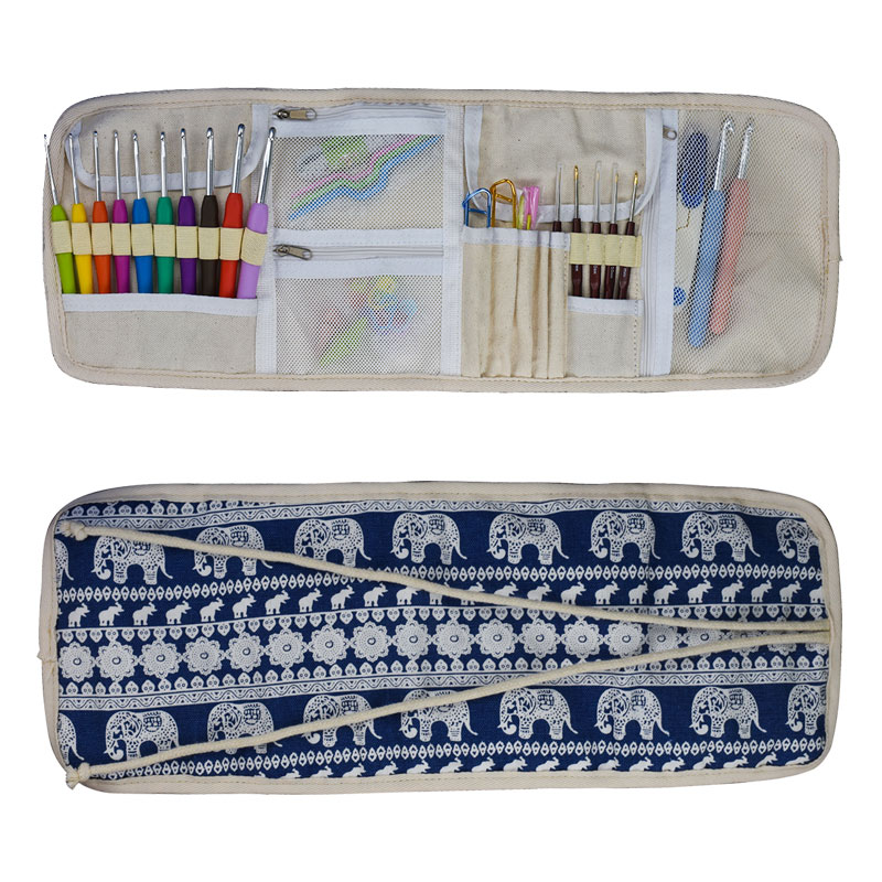 Looen 0 5 8 0mm Crochet Hook Set DIY Needle Art Craft Cute Animal Elephant Knitting Needles Set With Case Organizer Sewing Tools in Sewing Tools Accessory from Home Garden